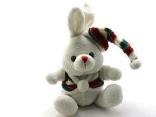 Adorable generic stuffed bunny, symbol