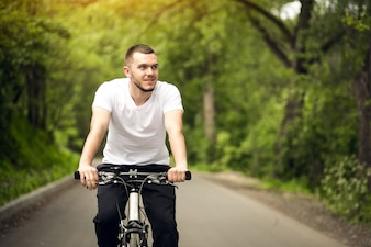 Adult asphalt bike background bicycle