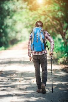 Adventure nature outdoor walking man