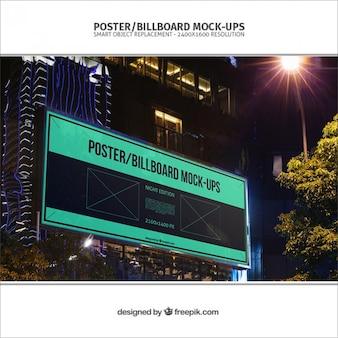 Advertising billboard mockup