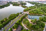 Aerial photography chinese city
