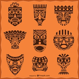African masks pack
