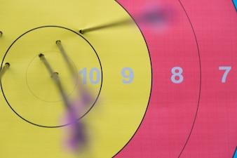 Aiming white target shot precise