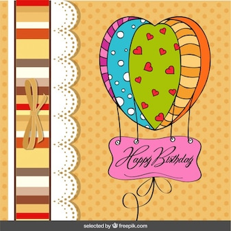 Air balloon birthday card