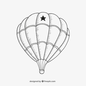 Air balloon sketch