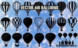 air balloons silhouettes