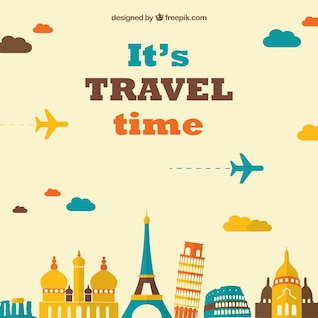 Air travel vector background