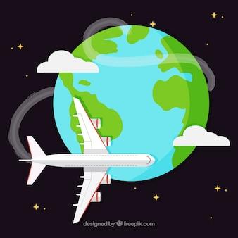 Airplane around the world