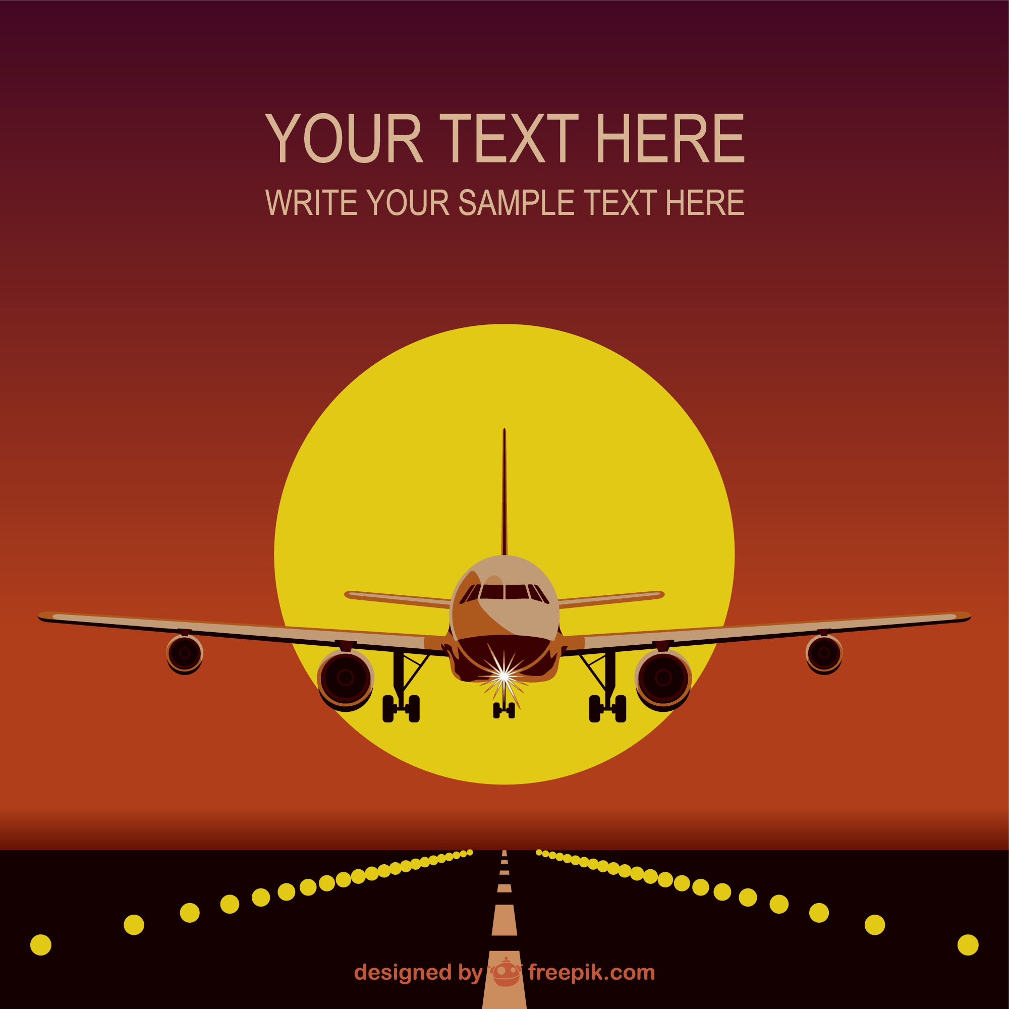 Airplane template free download