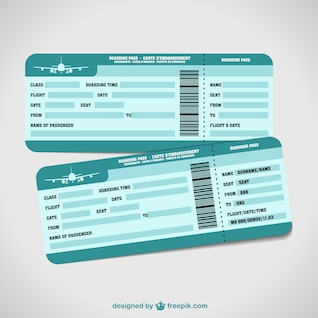 Airplane tickets holiday vector