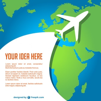 Airplane travel vector template