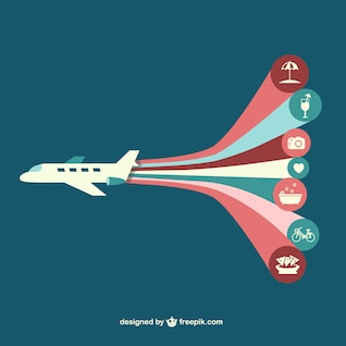 Airplane vector infography