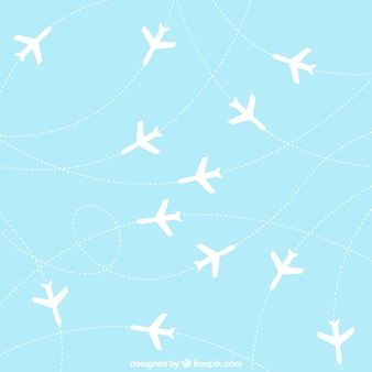 Airplanes background