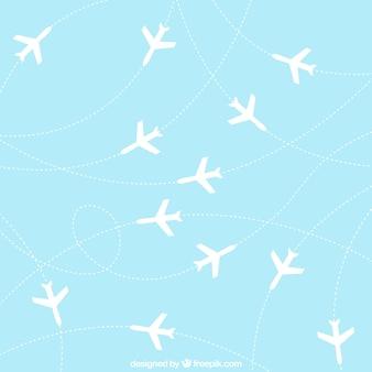 飛行機の背景