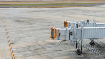 Airport terminal boarding gate .