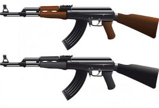 Ak47 machine guns vector