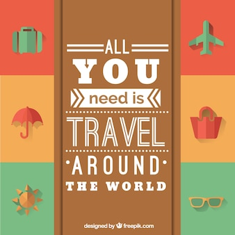 All you need is travel around the world