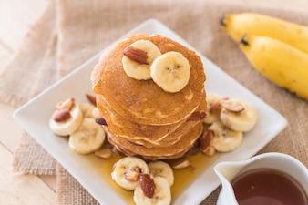 Almond banana pancake