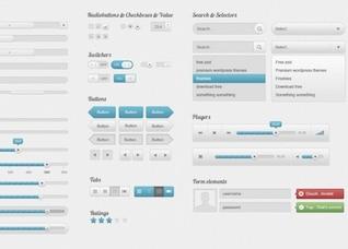 amazing clean web ui elements kit psd