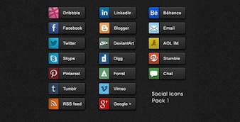 amazing social share buttons set psd