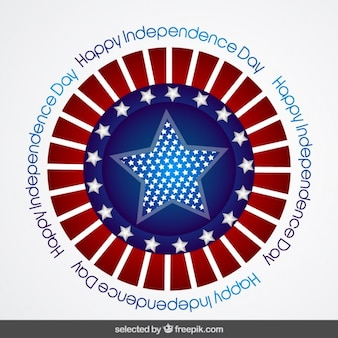 America Independence day badge