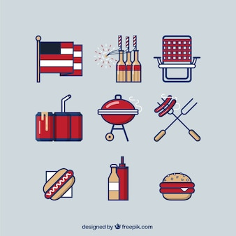 American barbecue party
