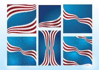 American Flag Vectors