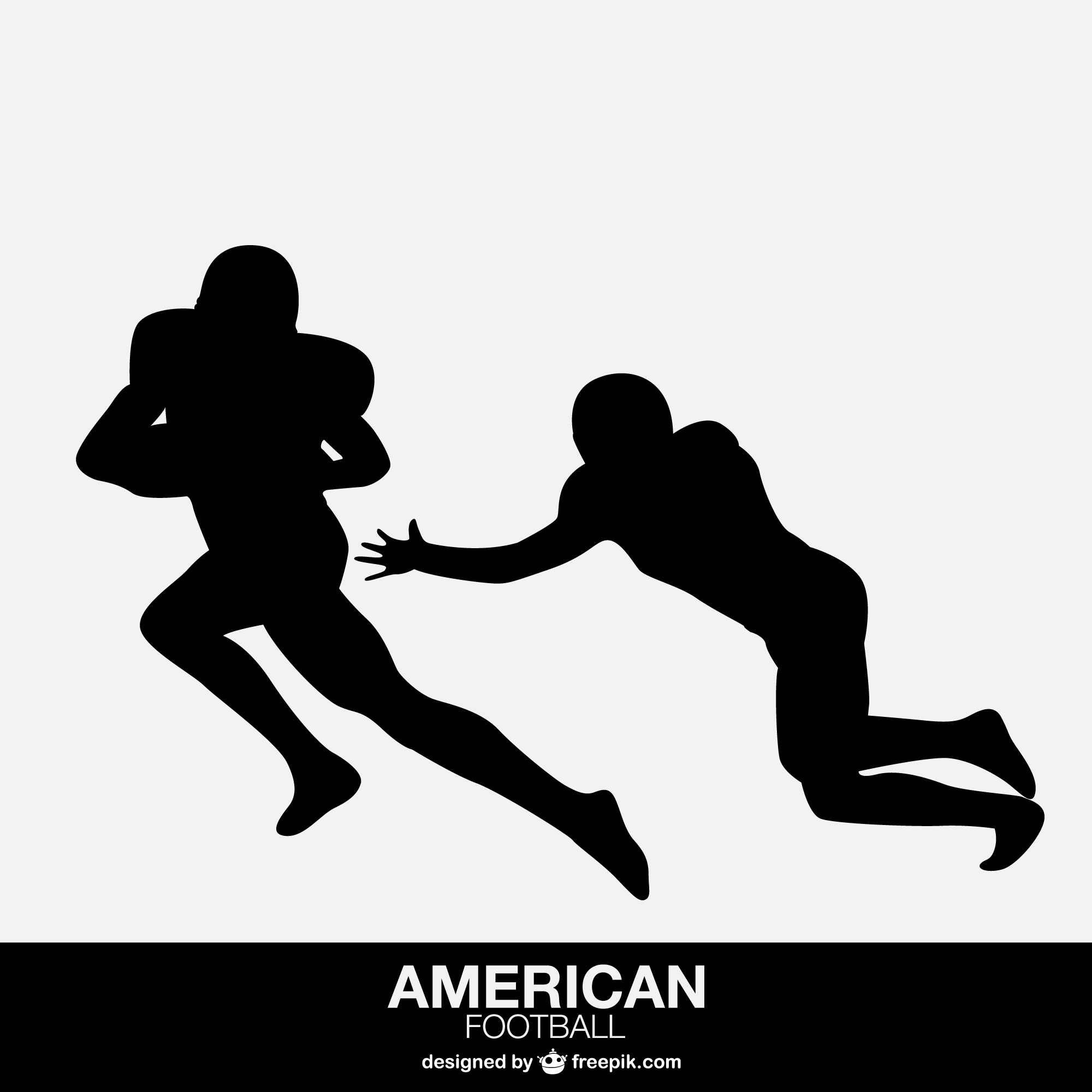 American football players isolated design