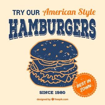 American hamburgers poster
