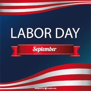 American Labor's day vector