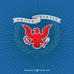 American logo with eagle