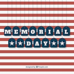 American memorial day background