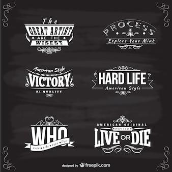 American style logo templates