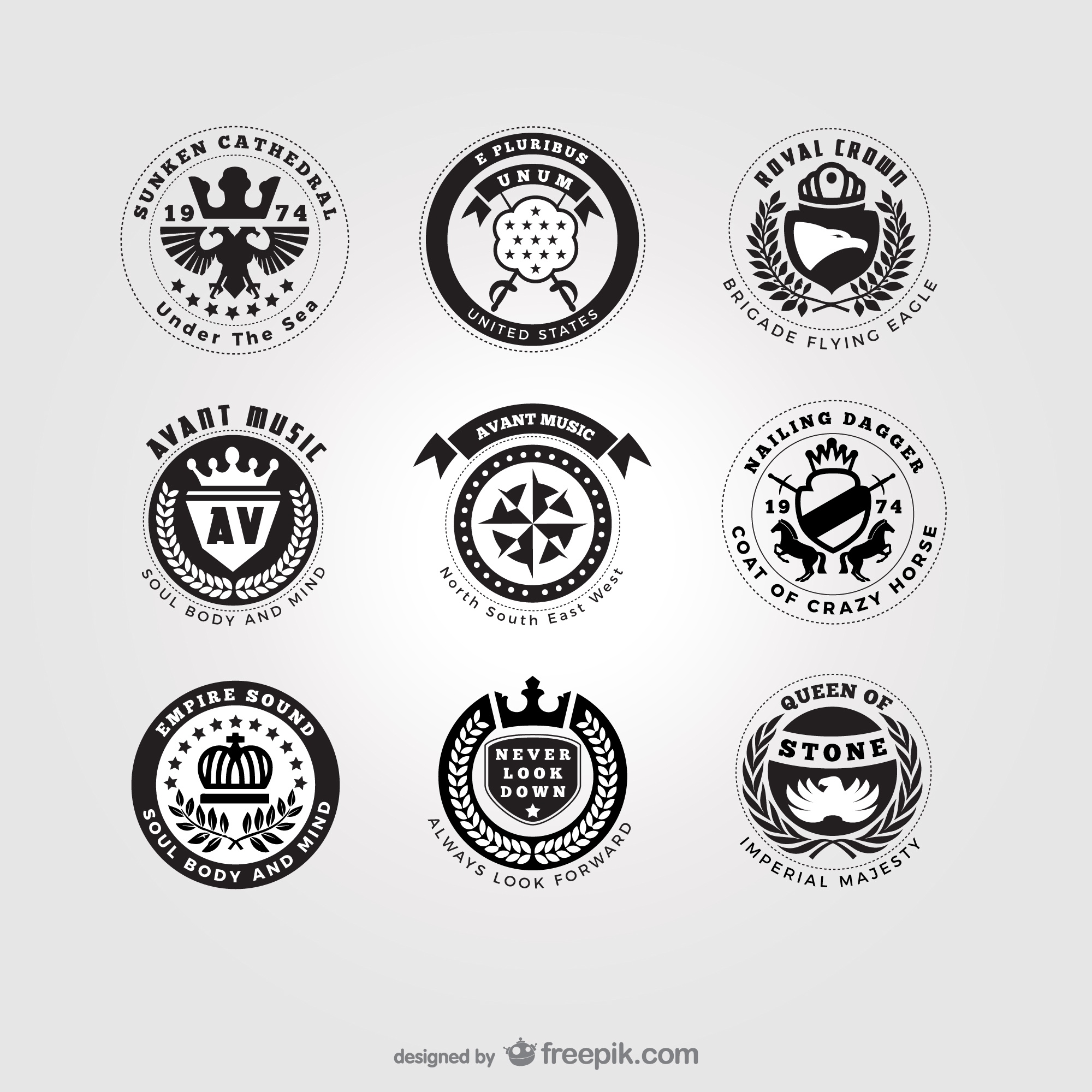 American style logos pack
