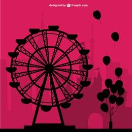 Amusement park free vector
