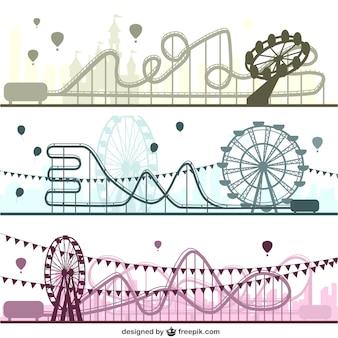 Amusement park vector set