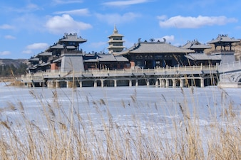 Ancient chinese palace in winter