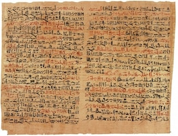 ancient hieroglyphics egyptian papyrus