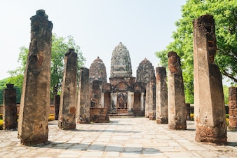 Ancient ruins of a temple