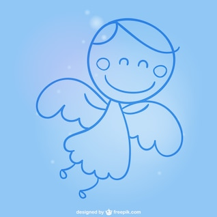 Angel cartoon free vector