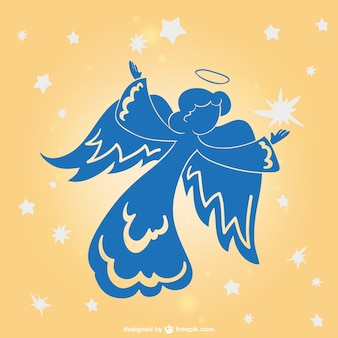 Angel holiday vector silhouette