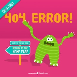 Angry monster 404 error background