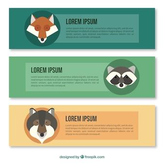 Animal banners template