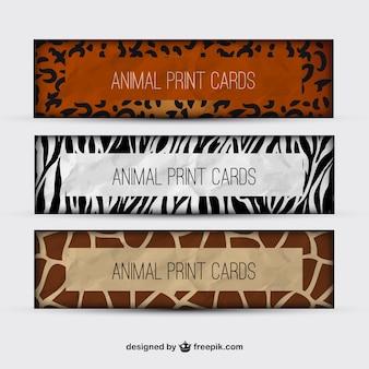 Animal print banners