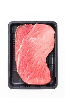 Animal rib cut uncooked sirloin