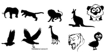 Animal Silhouettes Free Vector