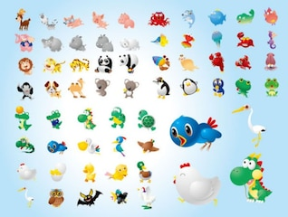 animals cartoons pack 1