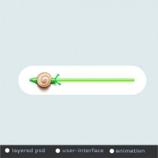 Animated green progress bar