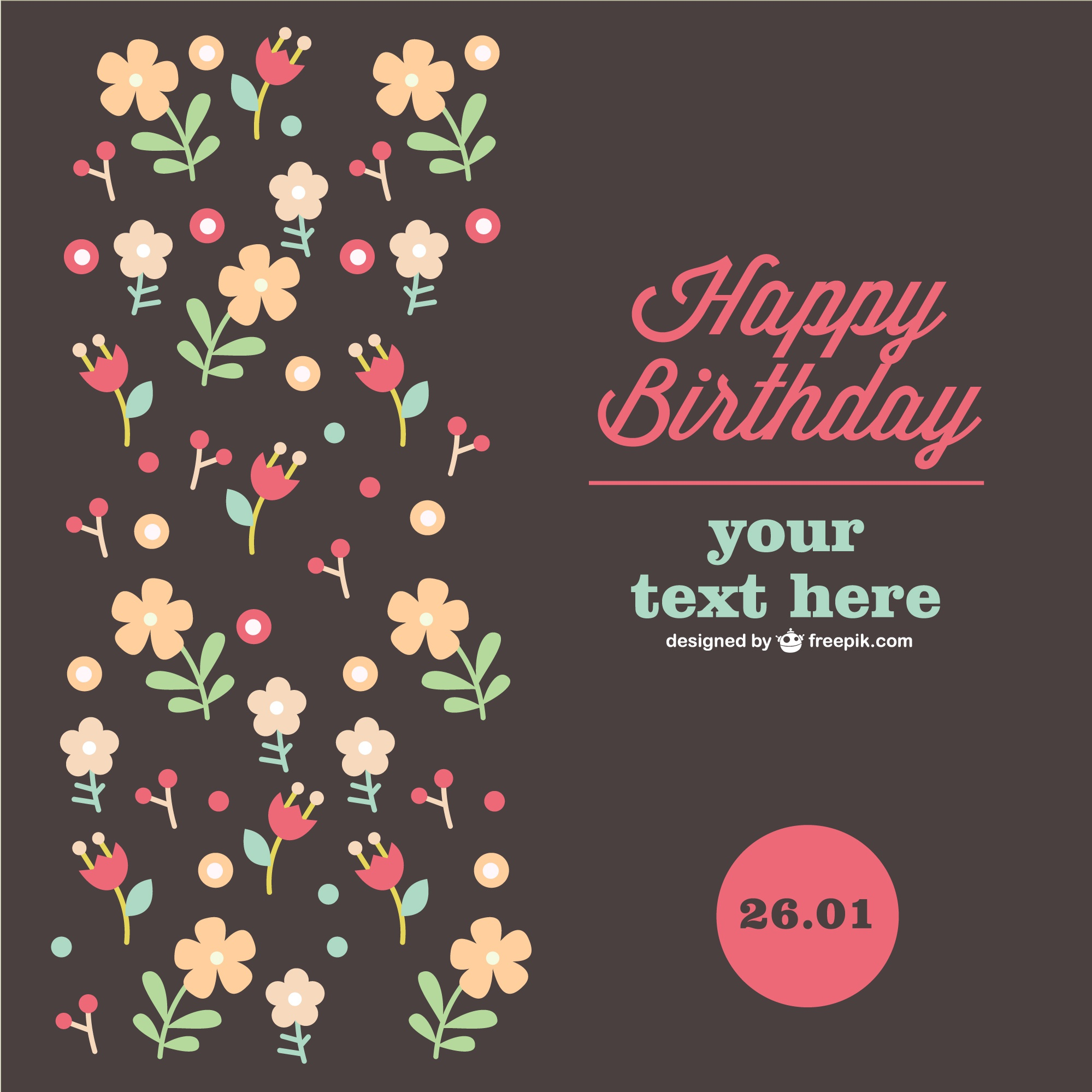 Anniversary floral card