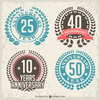 Anniversary laurel badges